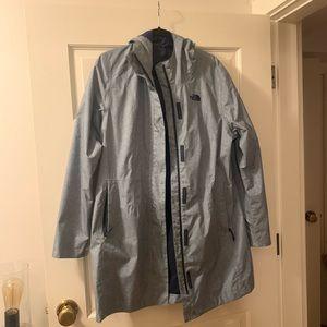 The North Face long rain jacket